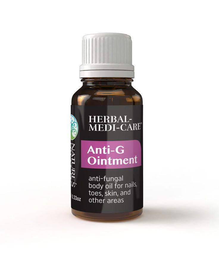 Herbal-Medi-Care Anti-G (Fungal) Ointment 10ml/0.4oz Glass Dropper Bottle