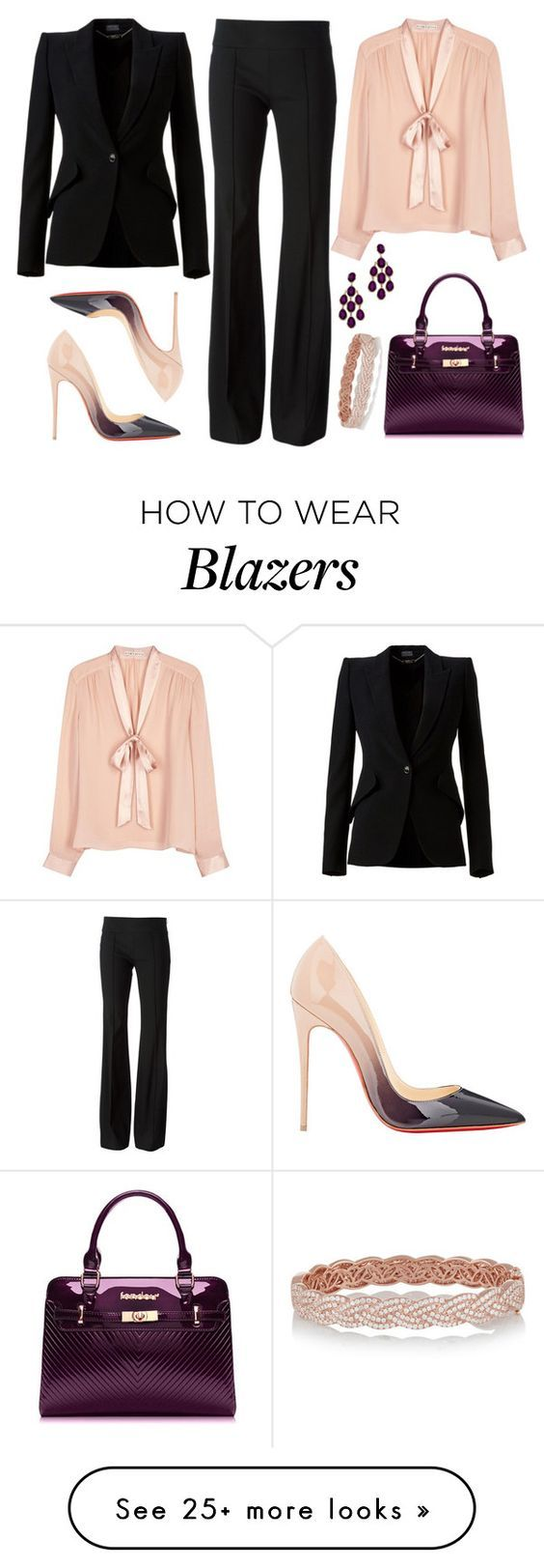 """Untitled #2704"" by emmafazekas on Polyvore featuring Blu Bijoux, Alice + Olivia, Michael Kors, Alexander McQueen, Christian Louboutin and Anita Ko:"