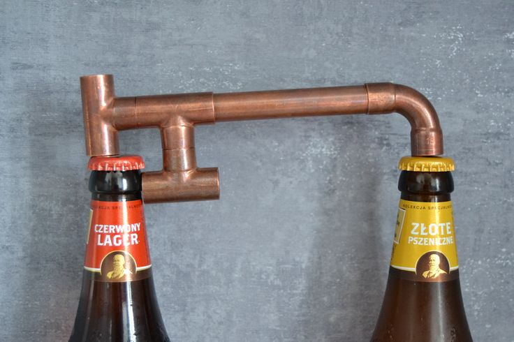 Industrial beer opener made of copper pipes & fittings
