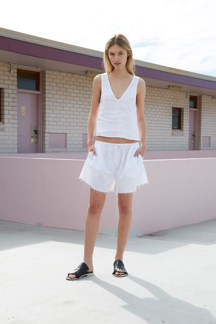 THIRD FORM RESORT 16 COLLECTION   SWEET SURRENDER TOP  #thirdform #fashion #streetstyle #minimalism #chic #trend #top #white