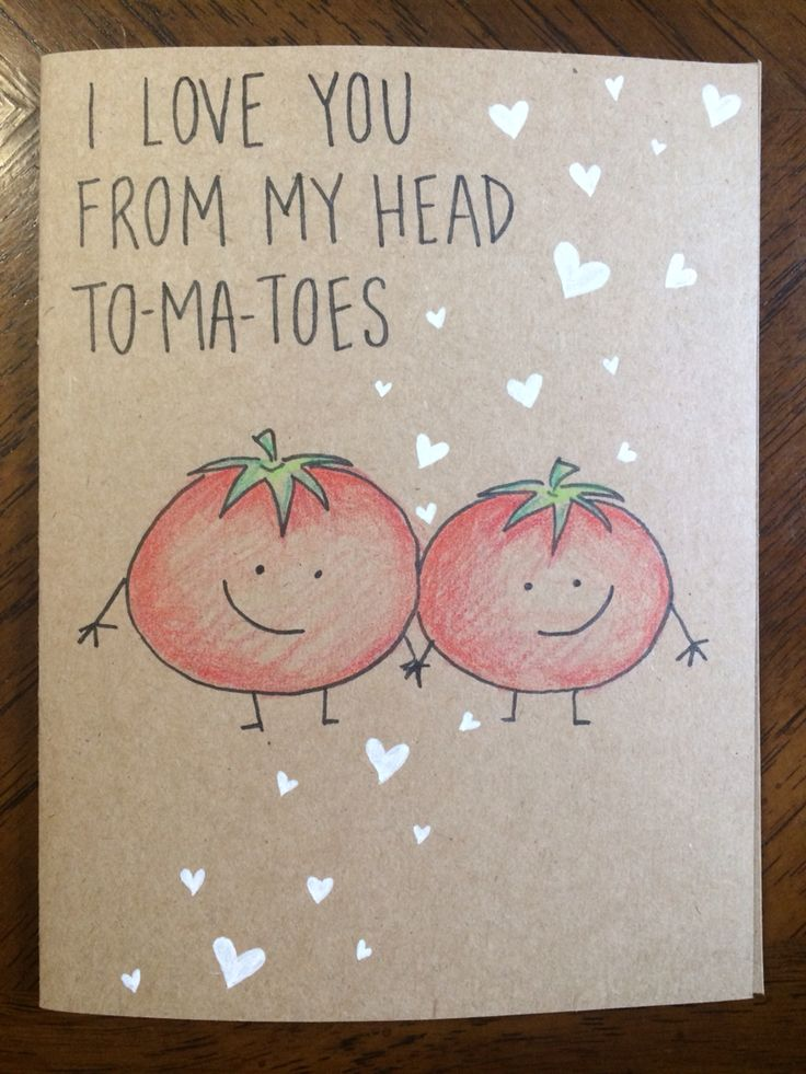I Love You From My Head Tomatoes Card Lubbyspecial Pinterest