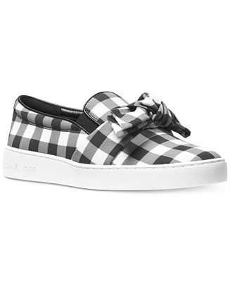 73b046588f76b Shop for Slip On Sneakers online at Macys.com. Black and white gingham  makes casual looks pop in these Willa platform sneakers from MICHAEL  Michael Kors