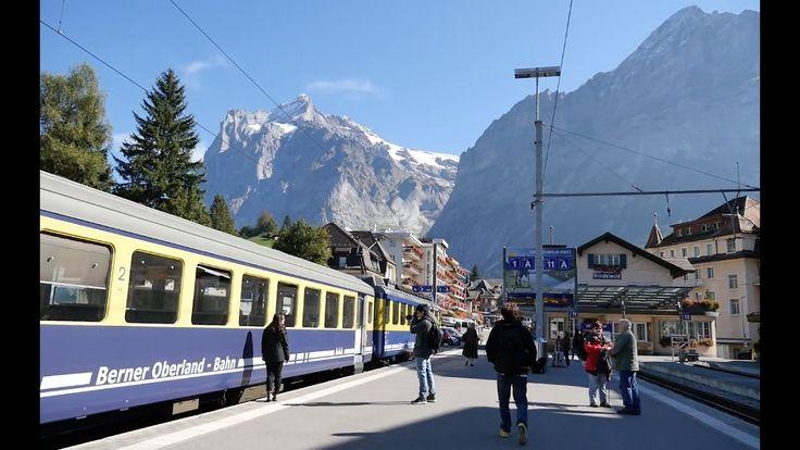 Walking. Grindelwald railway station, Switzerland 2016 [그린델발트역]