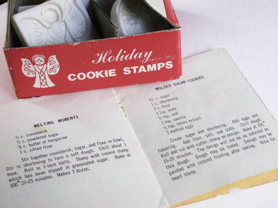 Vintage 1984 Christmas Cookie Stamps PLUS by dazzledbyvintage