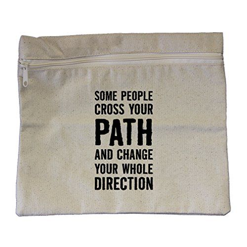 People And Change Your Whole Direction Canvas Zippered Pouch Makeup Bag
