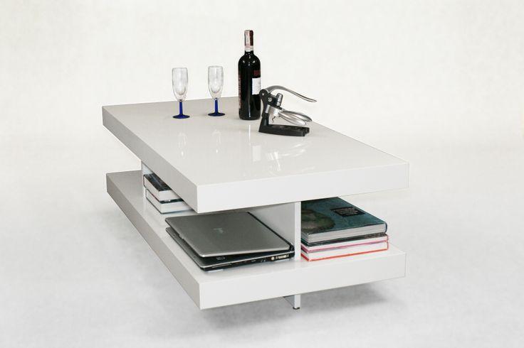 Stolik NN90 nowoczesna elegancja, funkcjonalne półki.