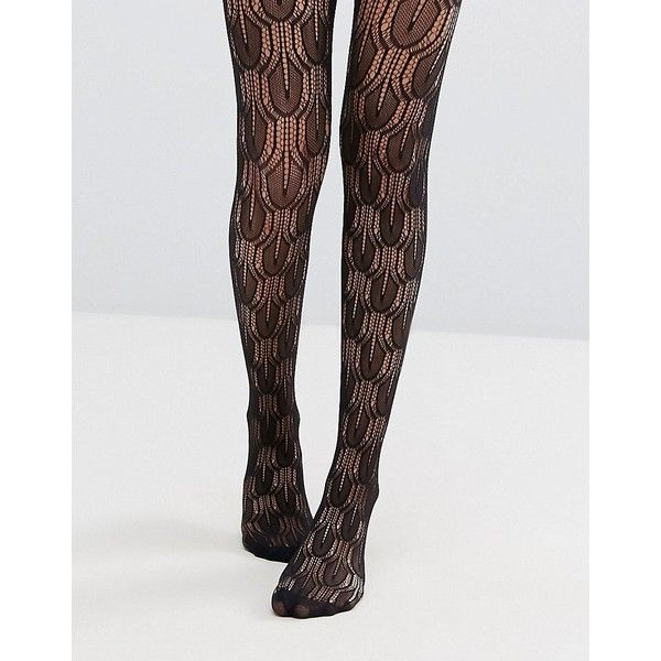 Jonathan Aston Jive Black Net Tights ($18) ❤ liked on Polyvore featuring intimates, hosiery, tights, black, floral tights, patterned hosiery, floral stockings, high waisted tights and net stockings