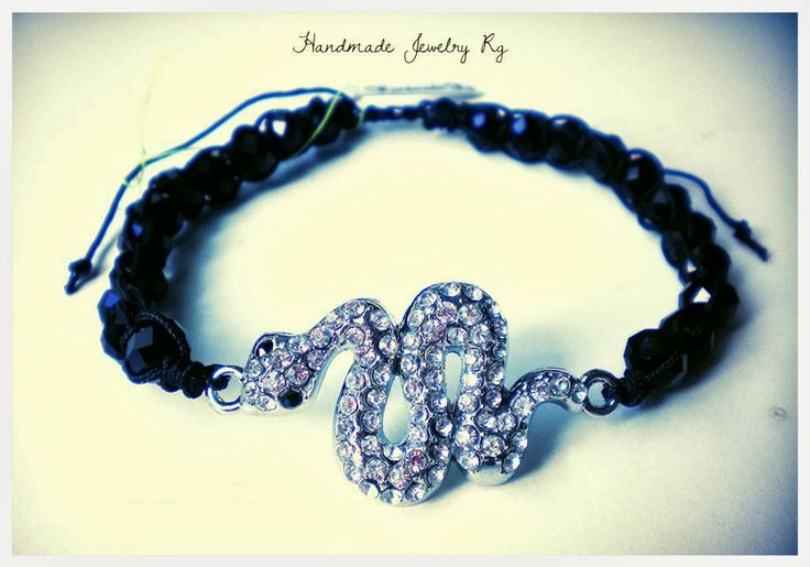 Handmade Jewelry Rg: Bracelet Snake with beads