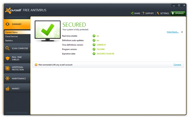 I use avast! Free Antivirus to protect my PC and it serves me well. Give it a try !