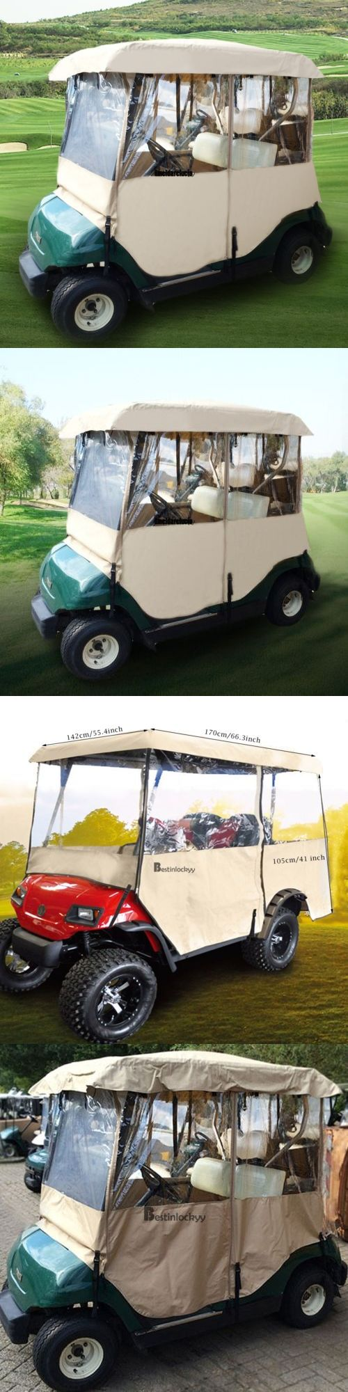 Push-Pull Golf Carts 75207: By 2 Passenger Driving Enclosure Golf Cart Cover Fit Ez Go,Club Car,Yamaha Cart -> BUY IT NOW ONLY: $51.99 on eBay!