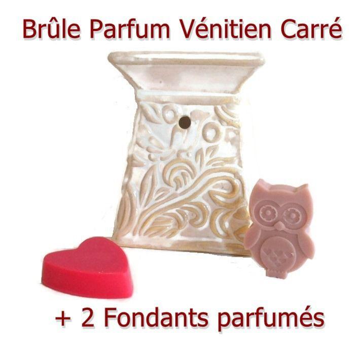Brûle parfum et 2 Cires Parfumées Cire Végétale Idée Cadeau : Luminaires par fondants-de-cire-parfumes-fleur-artifice