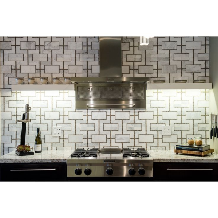Create the luxurious room of your fantasies with this incredible hand-crafted marble mosaic tile. Great focal point in a variety of settings. Shop these tiles and more at TileBar.com!