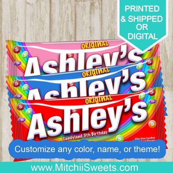Personalized Name Skittles-Birthday Party-Custom Skittles ...