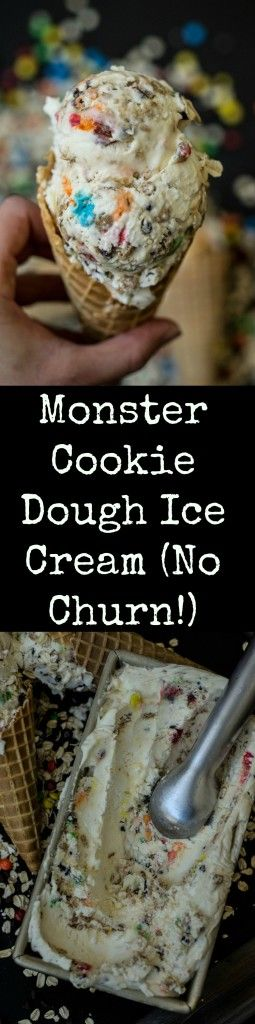 monster cookie dough ice cream!!!!!