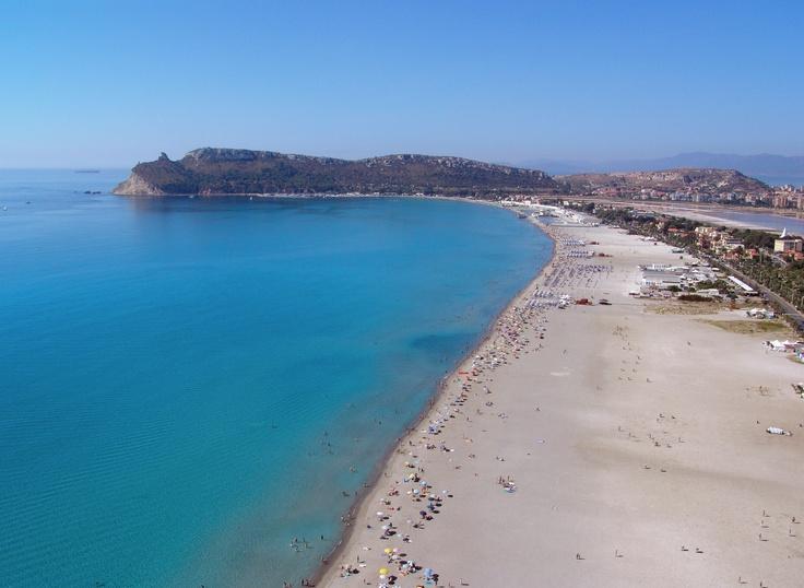 Poetto beach in Cagliari.