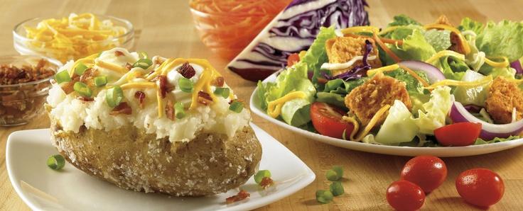 Baked potato and House Salad