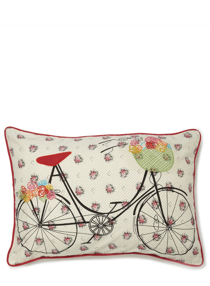 Red Pushbike Cushion - vintage cushions - cushions - For The Home - BHS