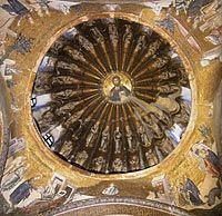 Kristus Pantokrator Chora-luostarin kirkon kupolissa, 1300-luku