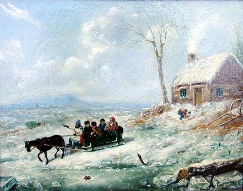 Sortie familiale en hiver, Longueuil, 1848