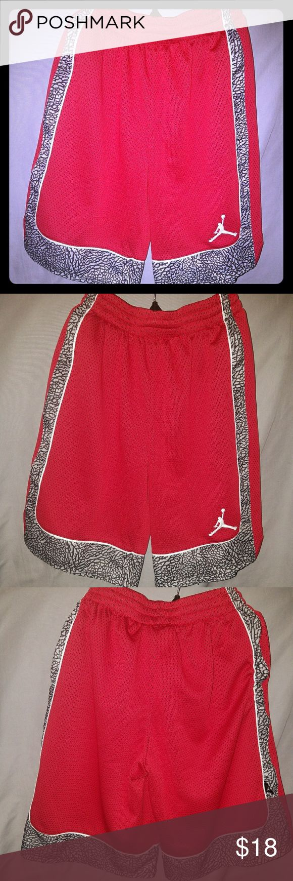 Michael Jordan basketball shorts Red Michael Jordan basketball shorts with pockets Jordan Bottoms Shorts