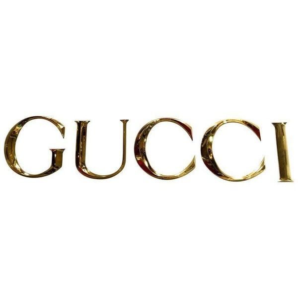 "Brass Letters Spelling ""GUCCI"" ($2,300) ❤ liked on Polyvore featuring home, home decor, filler, novelty signs, text signs, lettering signs, brass home accessories, gucci and brass home decor"