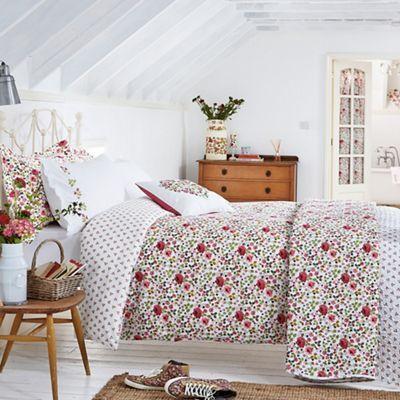 Julie Dodsworth Pink cotton 'Mary Rose' duvet cover | Debenhams