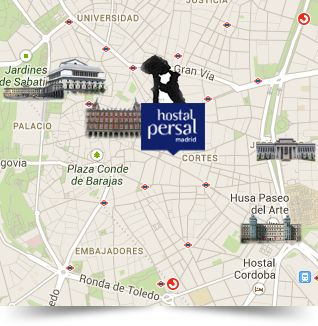 Cheap Hotel Madrid | Puerta del Sol | Hostal Persal, Official Website