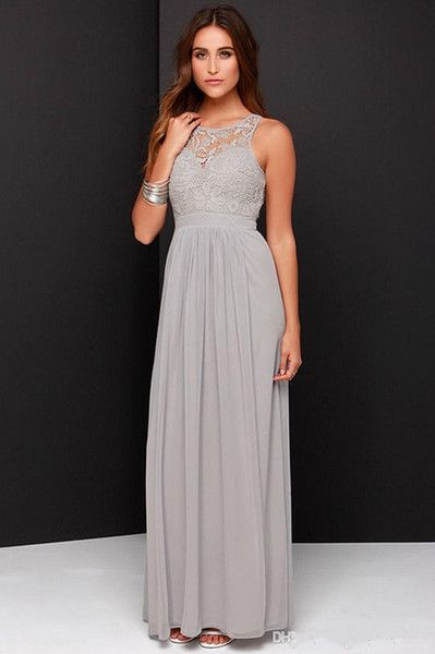 Free shipping, $70.06/Piece:buy wholesale 2016 Cheap Grey Bridesmaid Dresses for Wedding Long Chiffon A-Line Backless Formal Dresses Party Lace Modest Maid Of Honor Dress from DHgate.com,get worldwide delivery and buyer protection service.