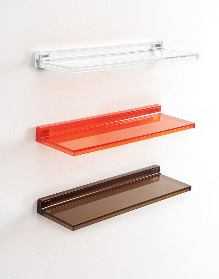 Kartell - Mensola Shelfish | Design: Ludovica+Roberto Palomba | Anno: 2013 | Materiali: PMMA | #design #mensola #ripiano #italiandesign #interiordesign #homedecor #moderno #madeinitaly |
