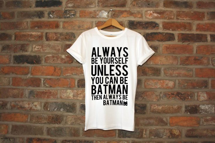 "Urban Hypsteria's Holiday Goodie Bag: FUNKY ""BE BATMAN"" T-SHIRT"