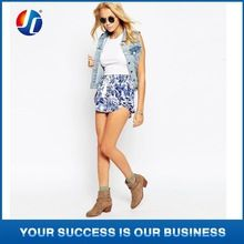 Hot Ladies summer casual shorts with flower print pantalones cortos Best Buy follow this link http://shopingayo.space