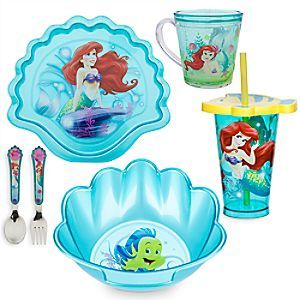 The Little Mermaid Meal Time Magic Collection | Disney Store Dive into fun with <i>The Little Mermaid</i> Meal Time Magic Collection. Set includes plate, bowl, flatware, cup and tumbler for delightful ''under the sea'' dining with Ariel and her friends.