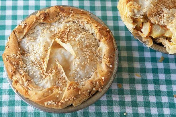 Vegetable samosa pies (vegetarian) main image