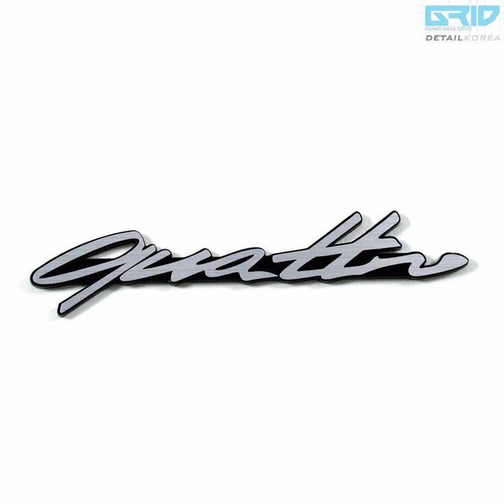 Detailkorea #Grid #Car Lettering #Emblem 30138 for #Audi #Quattro #A1 #A3 #A4 #A5 #A6 #A7 #A8 #Audi_Quattro #Q3 #Q5