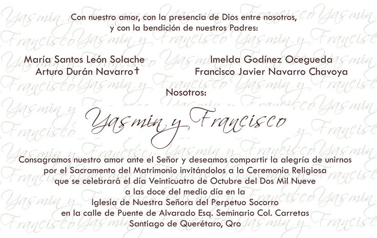 FRASES PARA LA INVITACION BODA - Google Search