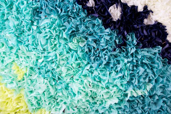 DIY Ombre Tissue Paper Photobooth Backdrop | Lovely Indeed