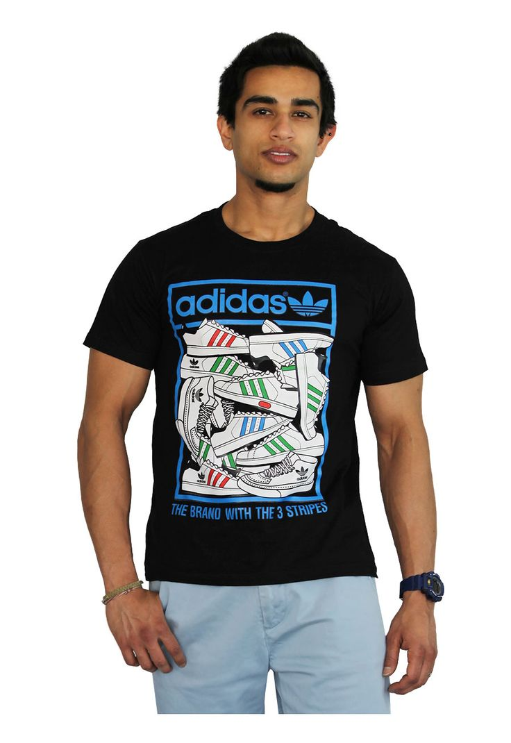 Men's Adidas Shoes T-Shirt features a funky shoe design on a classic Adidas tee. Shop men's t-shirts online in Sri Lanka with IKON today!