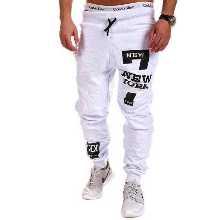 Jogger Pants Outdoors Joggers Men 2016 Male Letter Print Harem Pants Sweat Pant Men