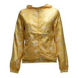 Μπουφαν αντιανεμικό με σχέδια αστέρια και κουκούλα Hooded Nylon jacket with printed stars