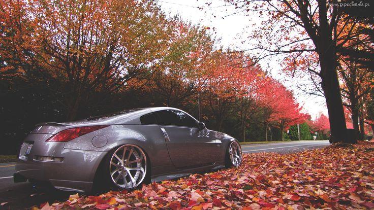 Jesień, Droga, Nissan, 350Z