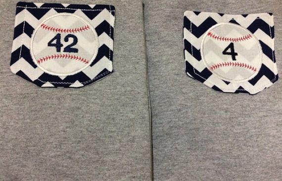 Custom Baseball Chevron Pocket Tee-You choose colors on Etsy, $17.00