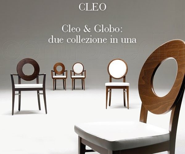 Cleo sedia legno imbottito modern