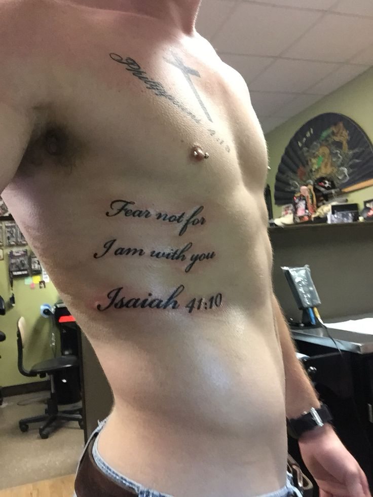 Isaiah 4110 Rib Tattoo Tats Pinterest Isaiah 41 10