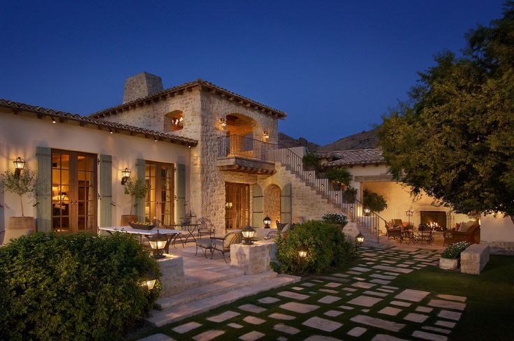 Az italian villa estate luxury custom home portfolio for Custom home plans arizona