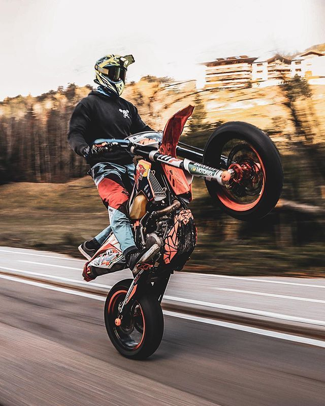 Fastest Wheelie In 2020 Motocross Bikes Ktm Supermoto Super Bikes