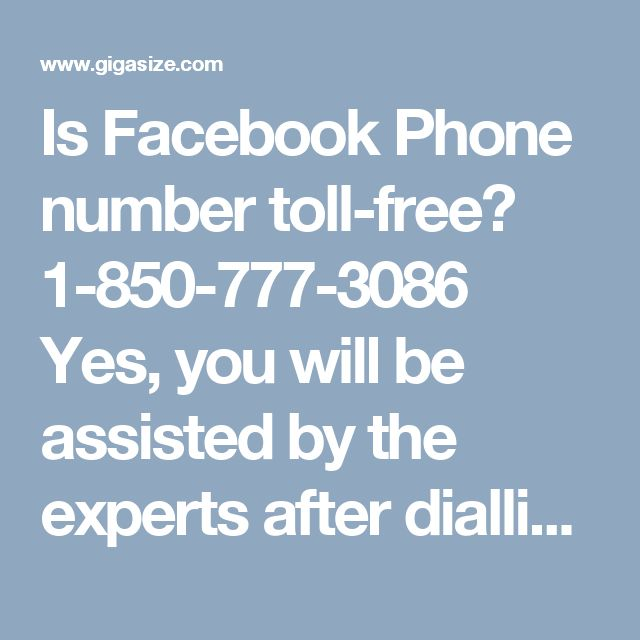 Is Facebook Phone number toll-free? 1-850-777-3086 Yes, you will be assisted by the experts after dialling at our toll-free Facebook Phone Number 1-850-777-3086 in the following manner:- • Delete a group on Facebook. • Want to use Facebook messenger app. Reactivate your Facebook account in no time. For more visit our website. http://www.monktech.net/facebook-customer-support-phone-number.html