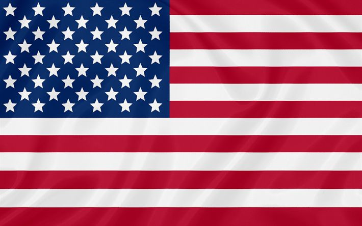 Download wallpapers US flag, 4K, silk texture, USA, American flag, flag of USA
