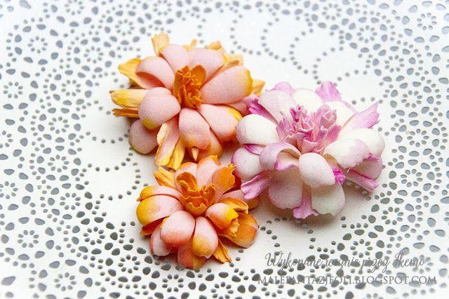 Male fantazje Oli: Kurs na piankowe kwiatuszki / Foamiran flower tutorial