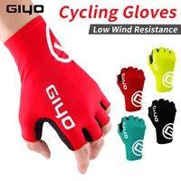 Giyo Breaking Wind Cycling Half Finger Gloves Anti-slip Bicycle Mittens Racing Road Bike Gloves MTB