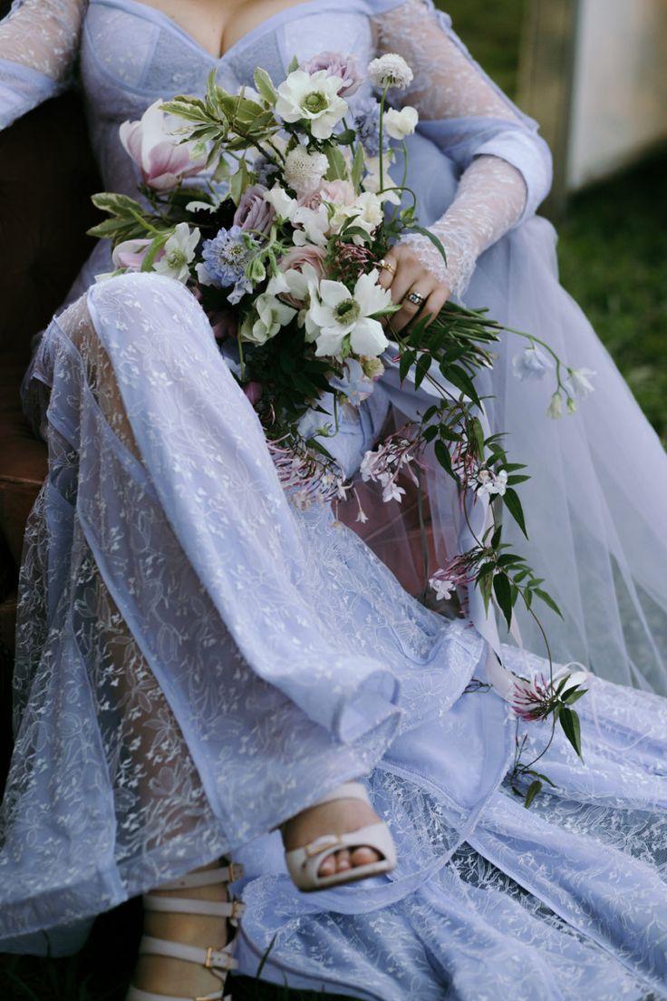 lilac wedding dress
